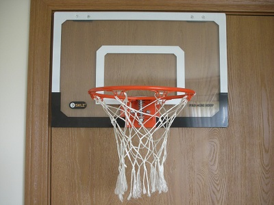 Basketball hoop in bedroom